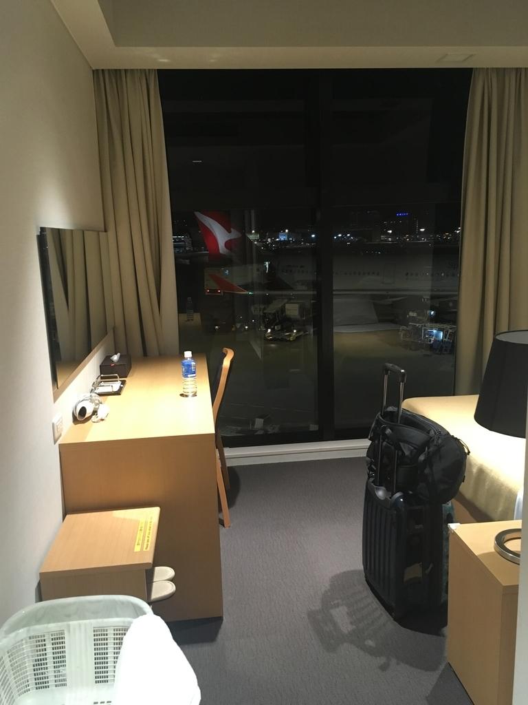成田空港のリラクゼーションルームから見える景色