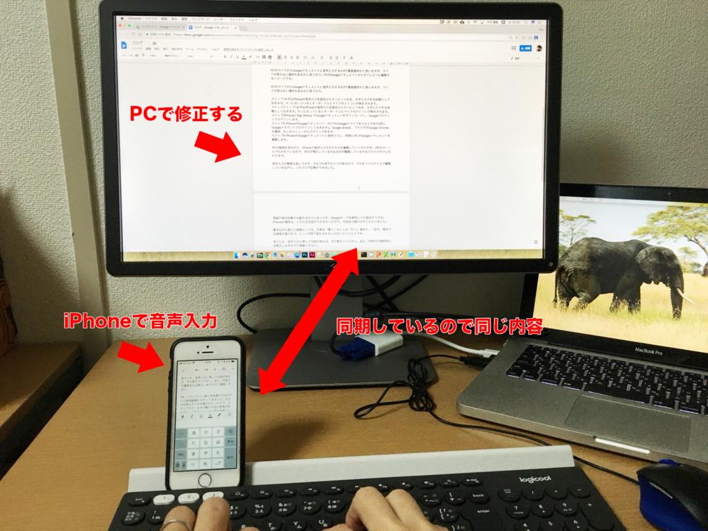 iPhoneとPCでの編集イメージ