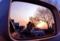「ドアミラーの中の夕焼け」 RICOH GR DIGITAL Ⅲ