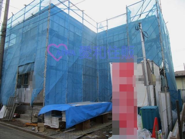 川越市上戸新町1期の建築中の画像