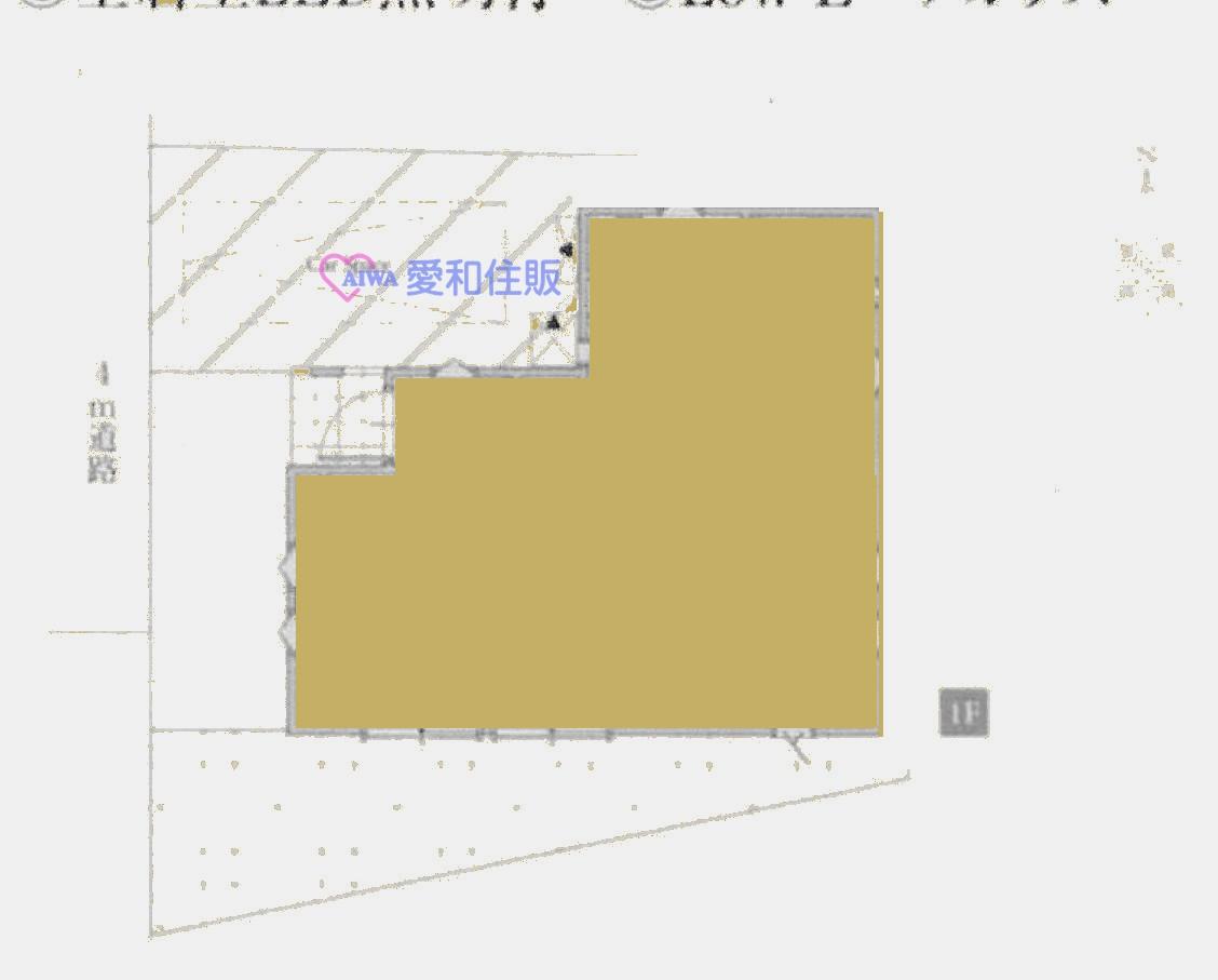 坂戸市山田町新築一戸建て建売分譲物件の地形図