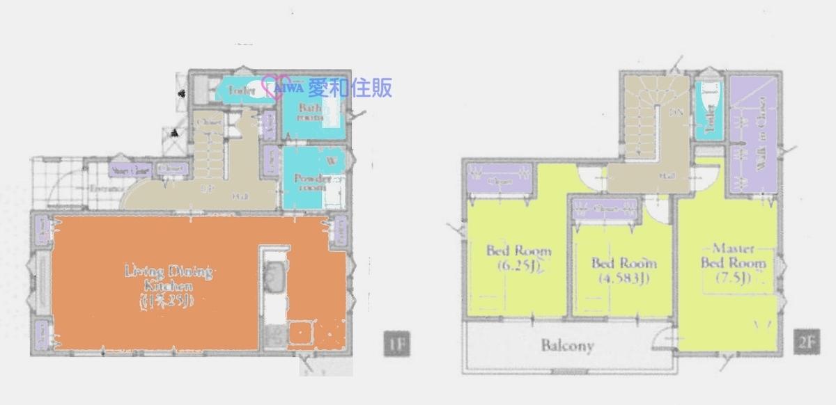 坂戸市山田町新築一戸建て建売分譲物件の間取り図