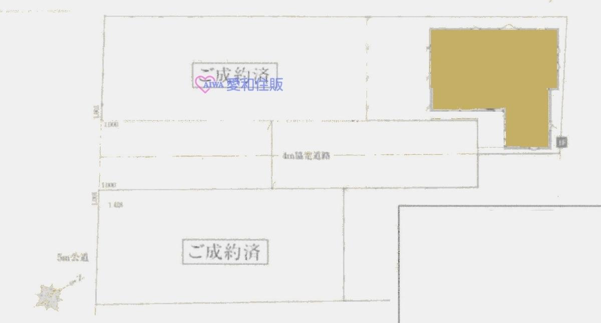 鶴ヶ島市鶴ヶ丘新築一戸建て建売分譲物件の地形図