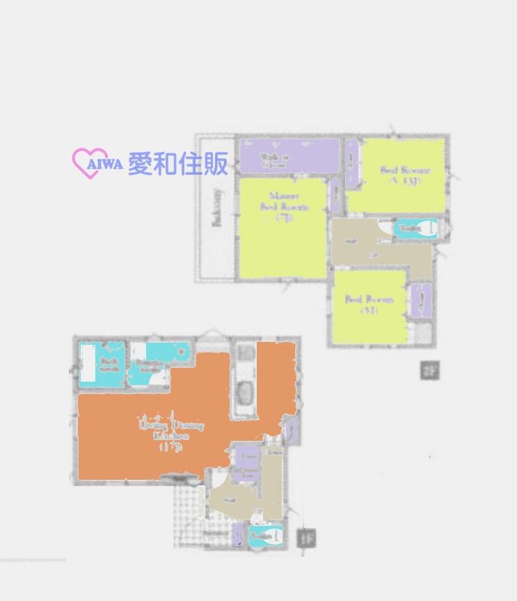 鶴ヶ島市鶴ヶ丘新築一戸建て建売分譲物件の間取り図