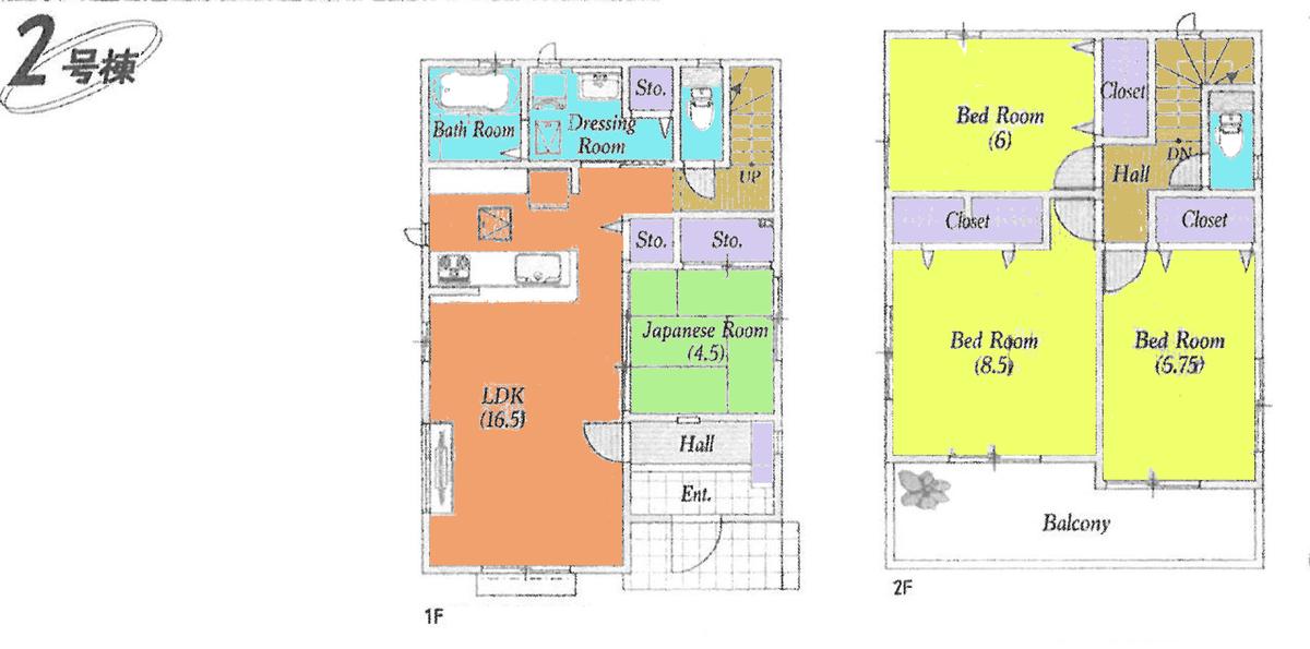 鶴ヶ島市藤金(7期)新築一戸建て建売物件の間取り図