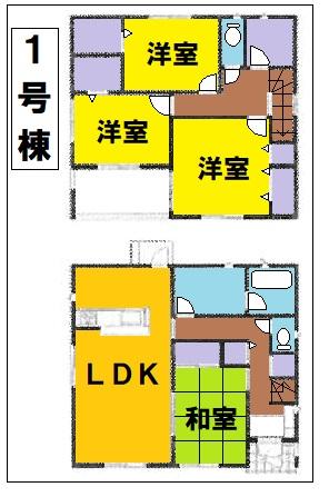 東松山市市ノ川第8新築一戸建て建売物件の1号棟間取り図