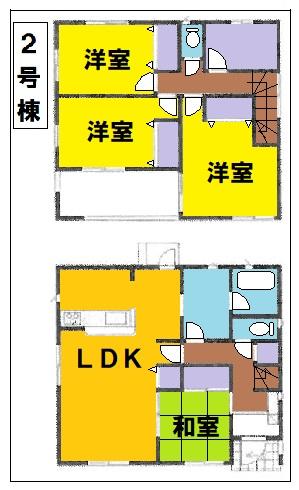 東松山市市ノ川第8新築一戸建て建売物件の2号棟間取り図