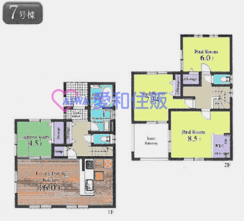 坂戸市にっさい花みず木3丁目新築一戸建て建売物件の7号棟間取り図