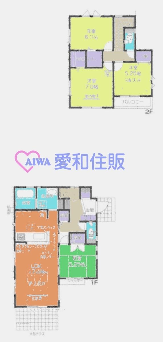 鶴ヶ島市五味ケ谷新築一戸建て建売物件の間取り図