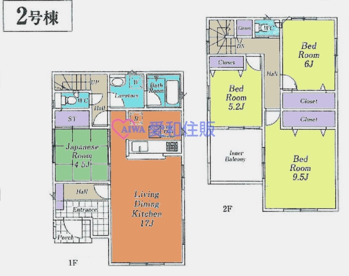 飯能市美杉台6丁目新築一戸建て建売分譲住宅の間取り図