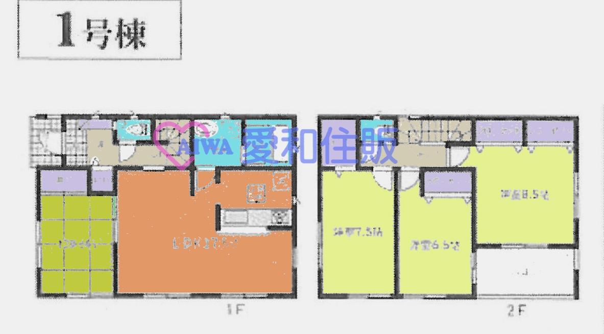 熊谷市久下3丁目新築一戸建て建売分譲住宅1号棟の間取り