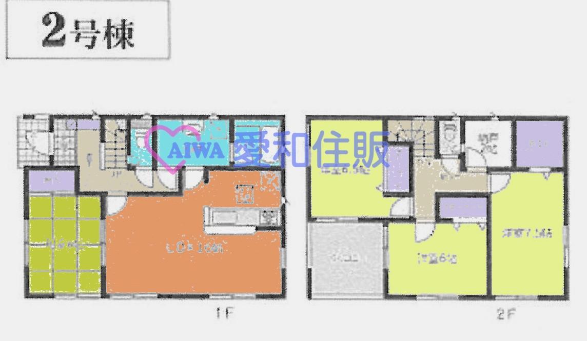 熊谷市久下3丁目新築一戸建て建売分譲住宅2号棟の間取り
