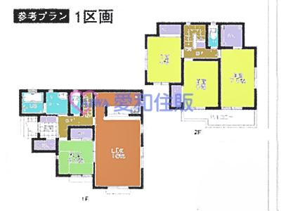 坂戸市鶴舞4丁目新築一戸建て建売分譲住宅の間取り図