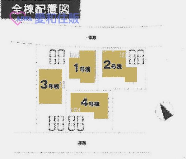 東松山市小松原町新築一戸建て建売分譲住宅の区画図