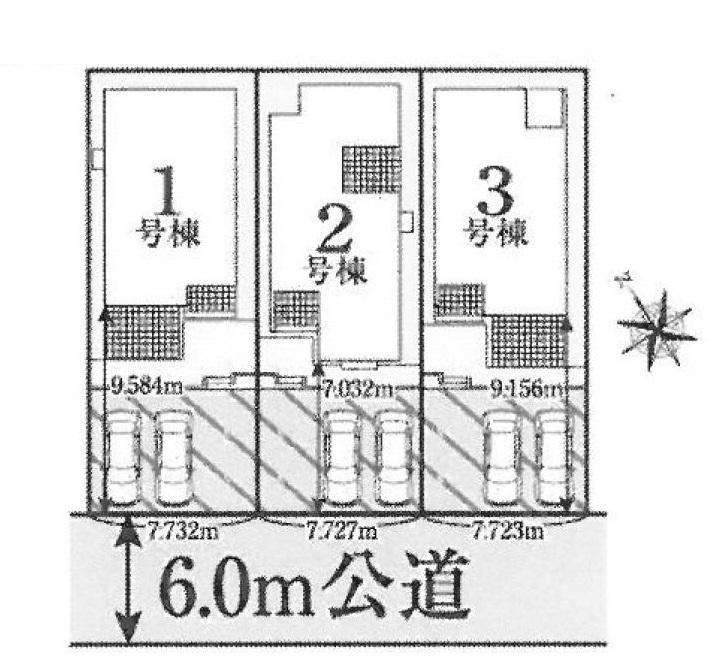 熊谷市籠原南1丁目新築一戸建て建売分譲住宅の区画図