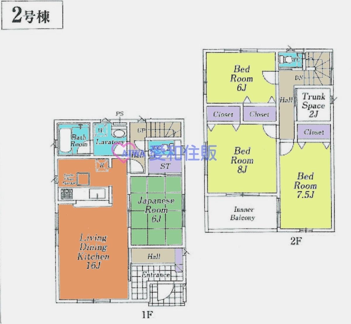 飯能市茜台1丁目新築一戸建て建売分譲住宅の間取り図