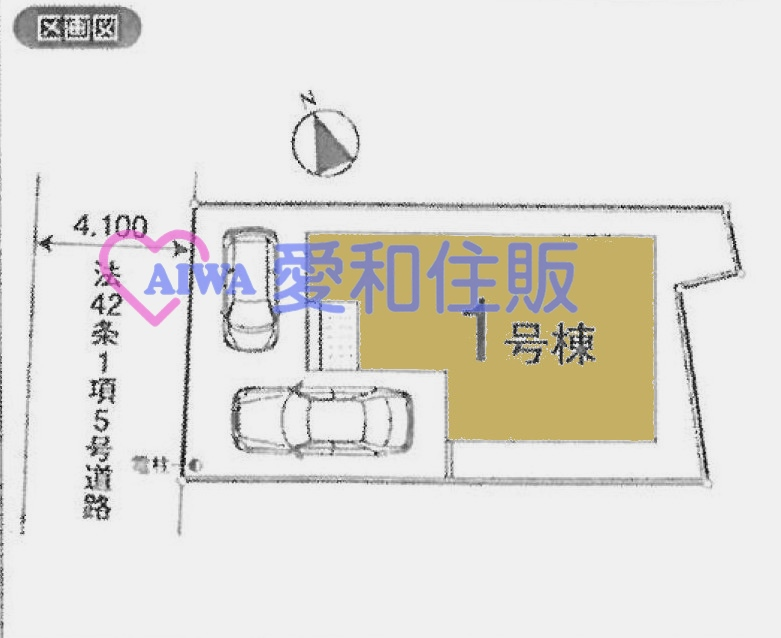 川越市小室新市区一戸建て建売分譲住宅の区画図