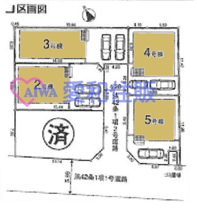 坂戸市末広町新築戸建て建売分譲住宅の区画図