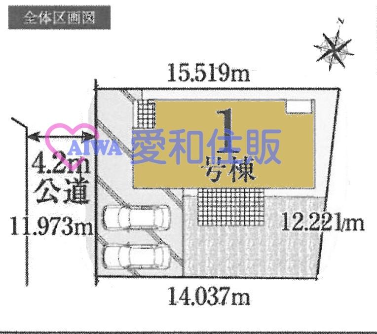 川越市下広谷新築一戸建て建売分譲住宅の区画図