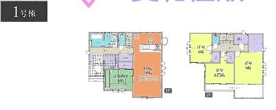 吉見町東野4丁目新築一戸建て建売分譲住宅の1号棟間取り