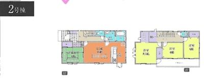 吉見町東野4丁目新築一戸建て建売分譲住宅の2号棟間取り