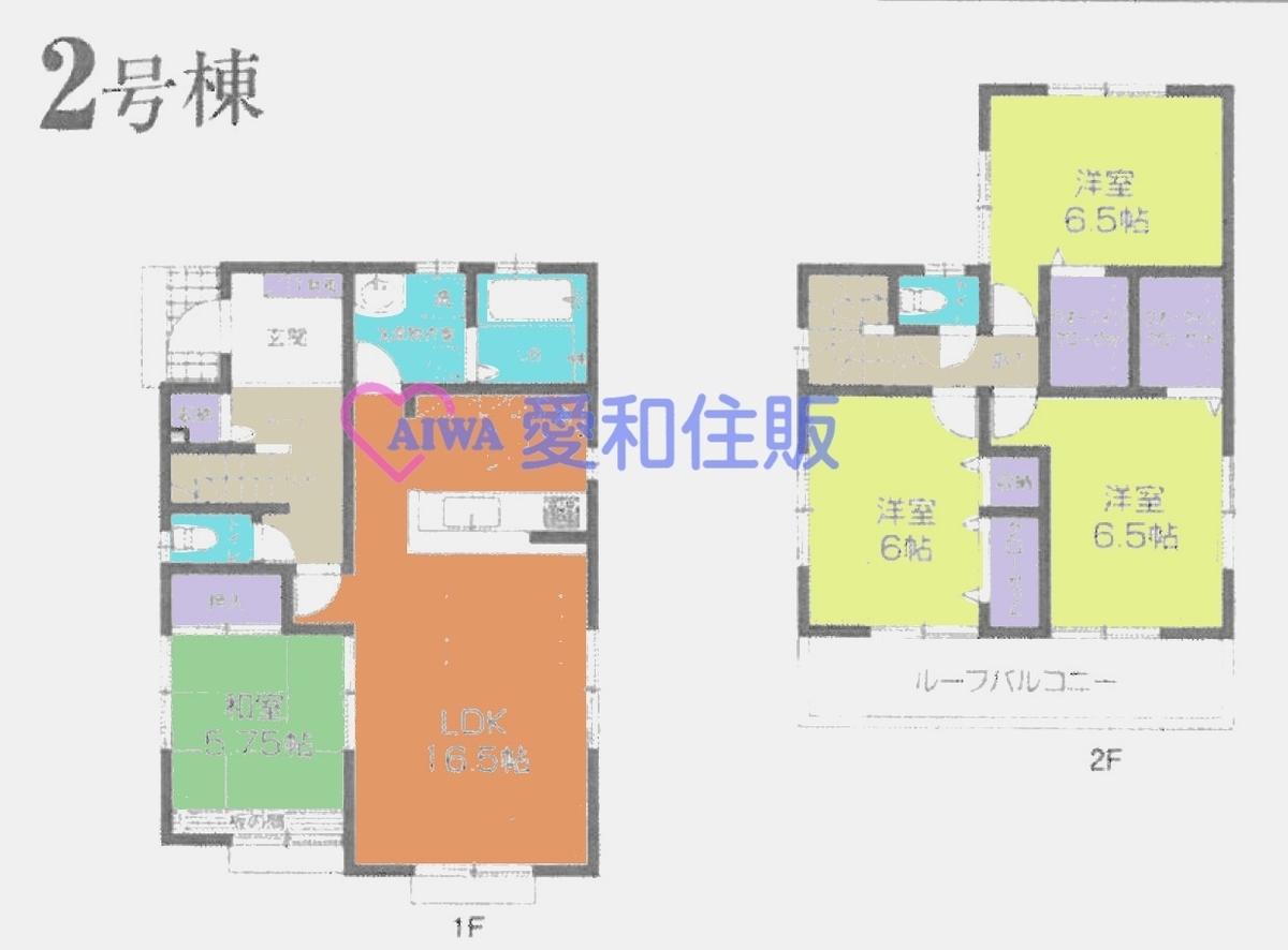 川越市月吉町新築一戸建て建売分譲住宅の間取り図