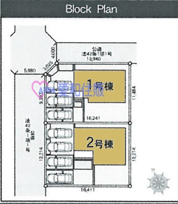 熊谷市河原町新築一戸建て建売分譲住宅の区画図