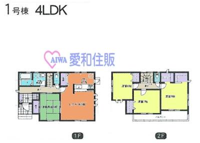 熊谷市河原町新築一戸建て建売分譲住宅の1号棟間取り図