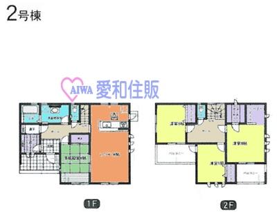 熊谷市河原町新築一戸建て建売分譲住宅の2号棟間取り図