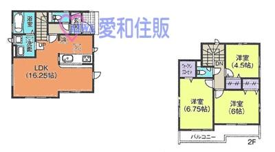 川越市今福新築一戸建て建売分譲住宅の間取り図