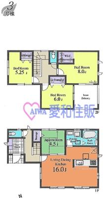 坂戸市本町新築一戸建て建売分譲住宅の3号棟間取り図