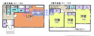 川島町角泉新築一戸建て建売分譲住宅の間取り図