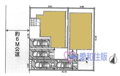 坂戸市片柳新築一戸建て建売分譲住宅の区画図