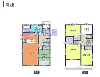 熊谷市榎町新築一戸建て建売分譲住宅の1号棟間取り図