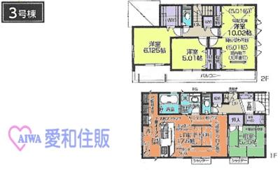 川越市今福新築一戸建て建売分譲住宅の3号棟間取り図