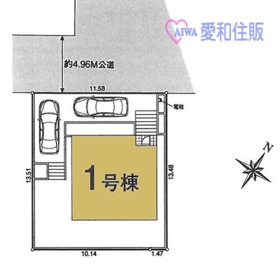 坂戸市西坂戸2丁目新築一戸建て建売分譲住宅の区画図