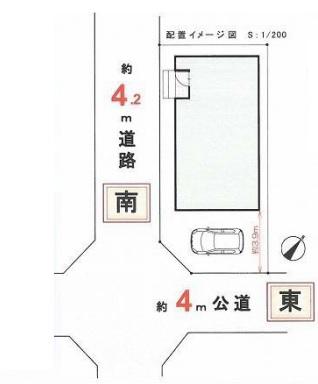 坂戸市西千代田2丁目新築一戸建て建売分譲住宅の区画図