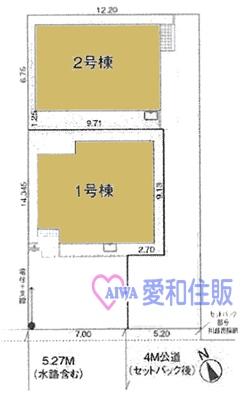 川越市神明町新築一戸建て建売分譲住宅の区画図