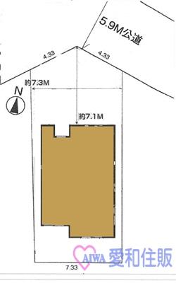 坂戸市泉町新築一戸建て建売分譲住宅の区画図