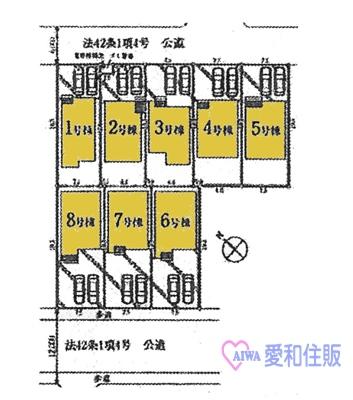 坂戸市石井新築一戸建て建売分譲住宅の区画図