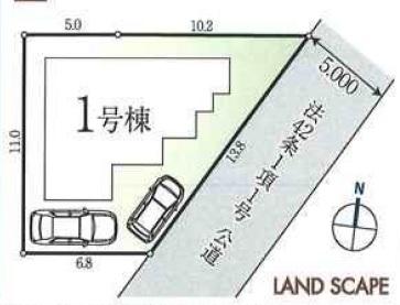 坂戸市清水町新築一戸建て建売分譲住宅の区画図