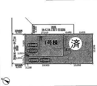 東松山市山崎町新築一戸建て建売分譲住宅の区画図
