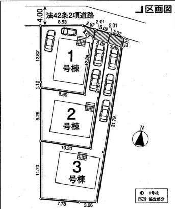 東松山市日吉町新築一戸建て建売分譲住宅の区画図