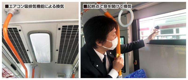 ■エアコン吸排気機能による換気■起終点で窓を開けて換気