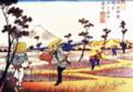 「岐岨街道鴻巣吹上富士」 英泉画
