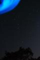 北斗七星とオーロラ