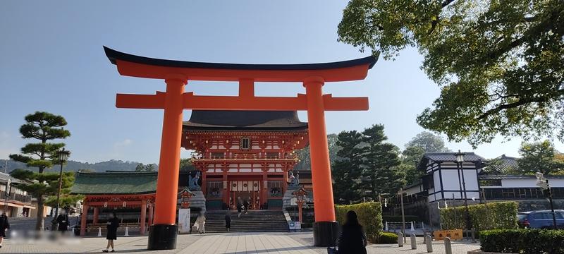 京都 伏見稲荷大社 桜門