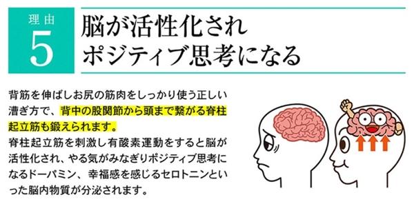 脳が活性化されポジティブ思考になる訳