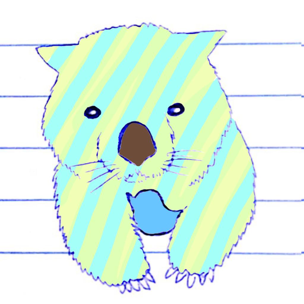 Twitterの鳥を抱くウォンバット 画像