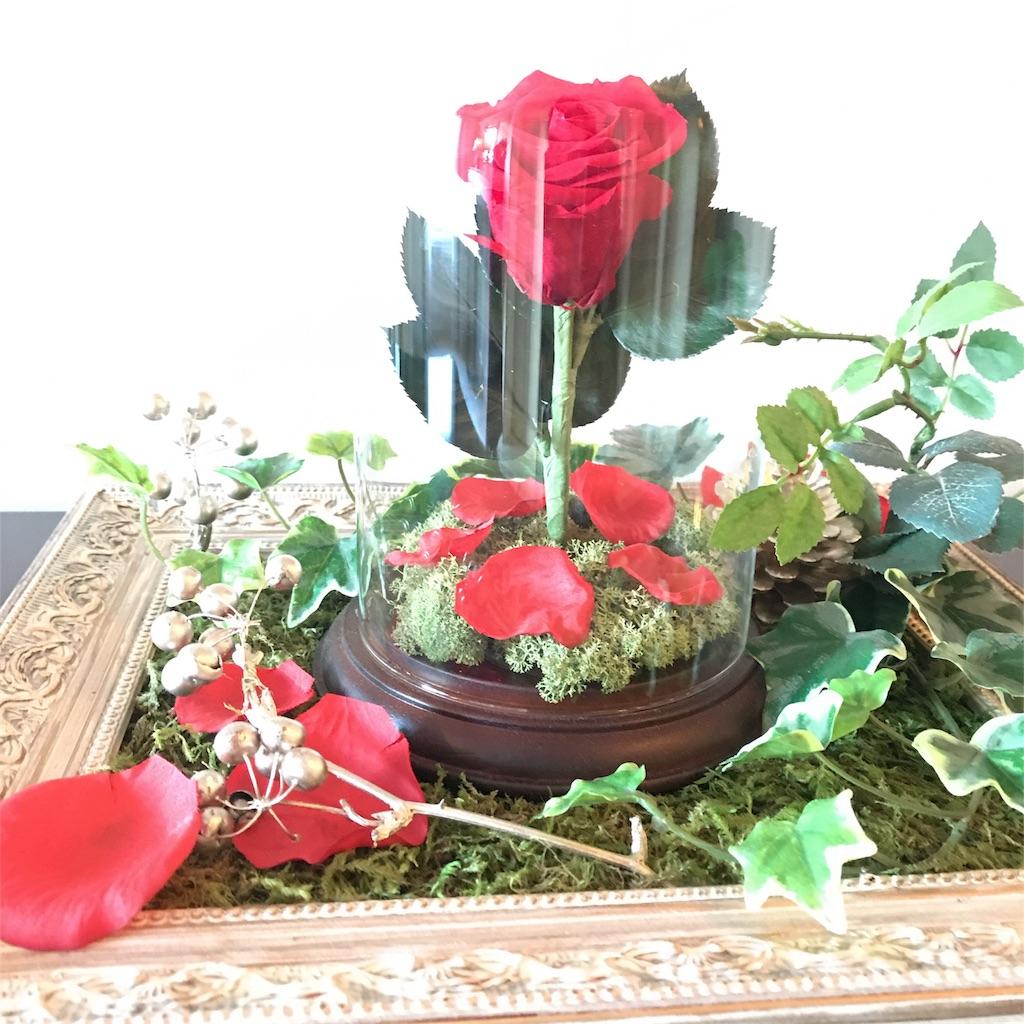 バラのオブジェ 写真
